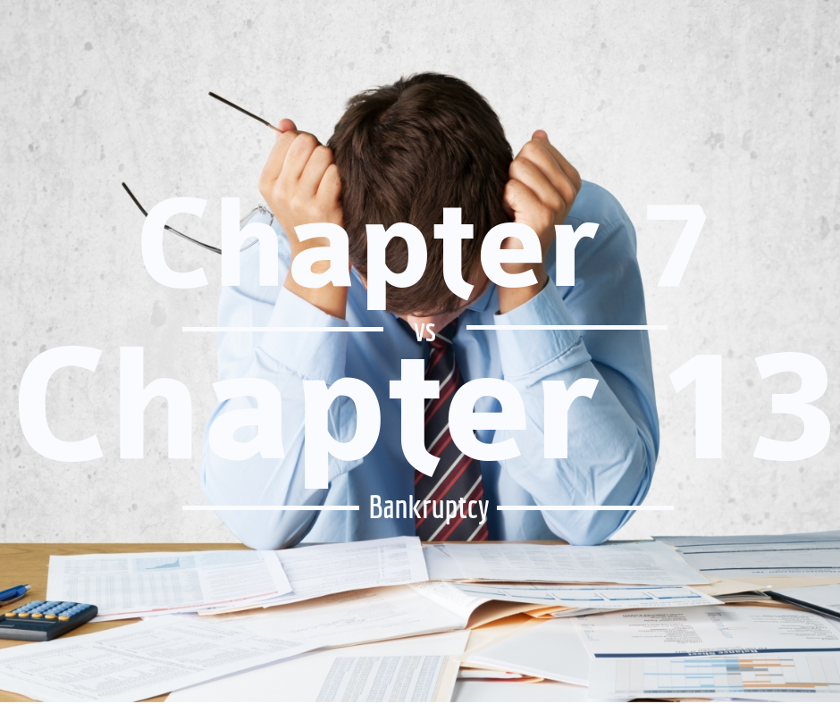 Difference between Chapter 7 and Chapter 13 Bankruptcy - Carosella & Associates